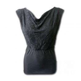 WideNeck Lace layered Top